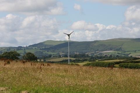 15 kW Proven Energy wind turbine.